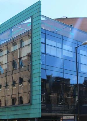 The outside of Abertay University Student Centre