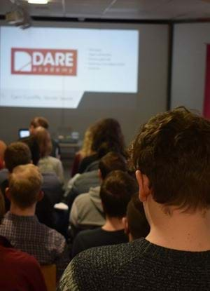 Group of people at Dare Academy 2018 launch night