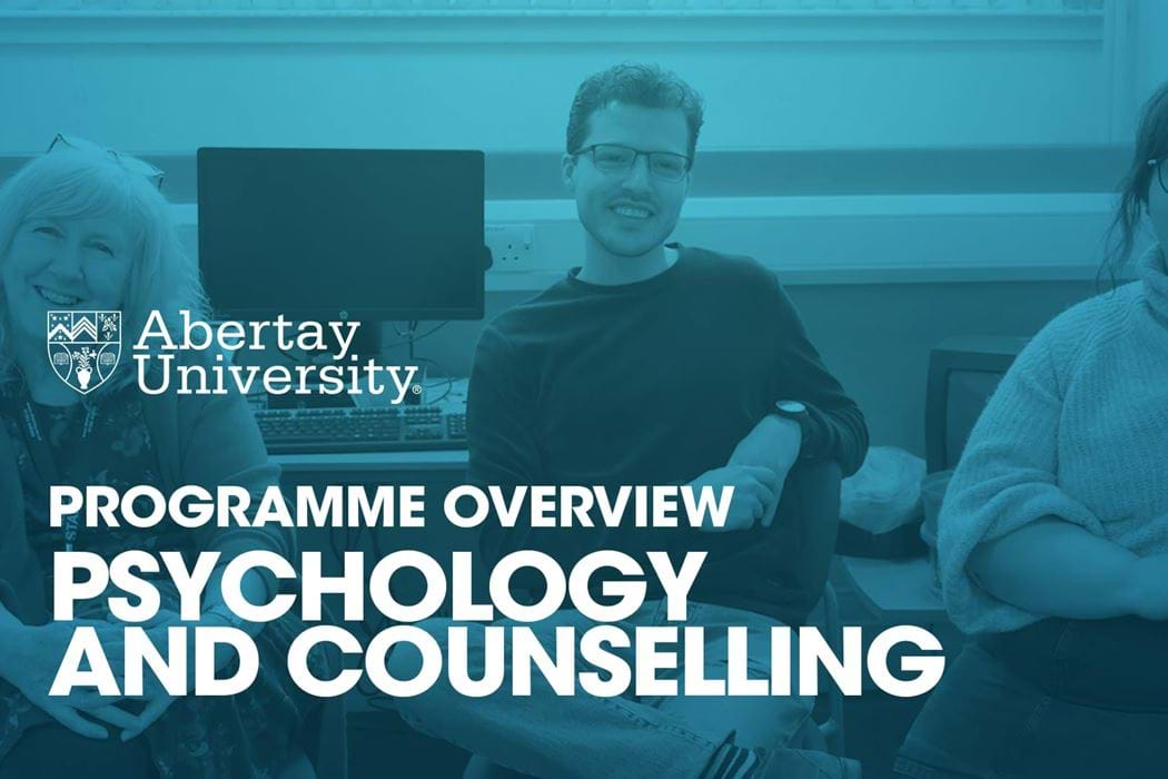The thumbnail image for the Psychology and Counselling Programme video is of a group of people in some sort of focus group.