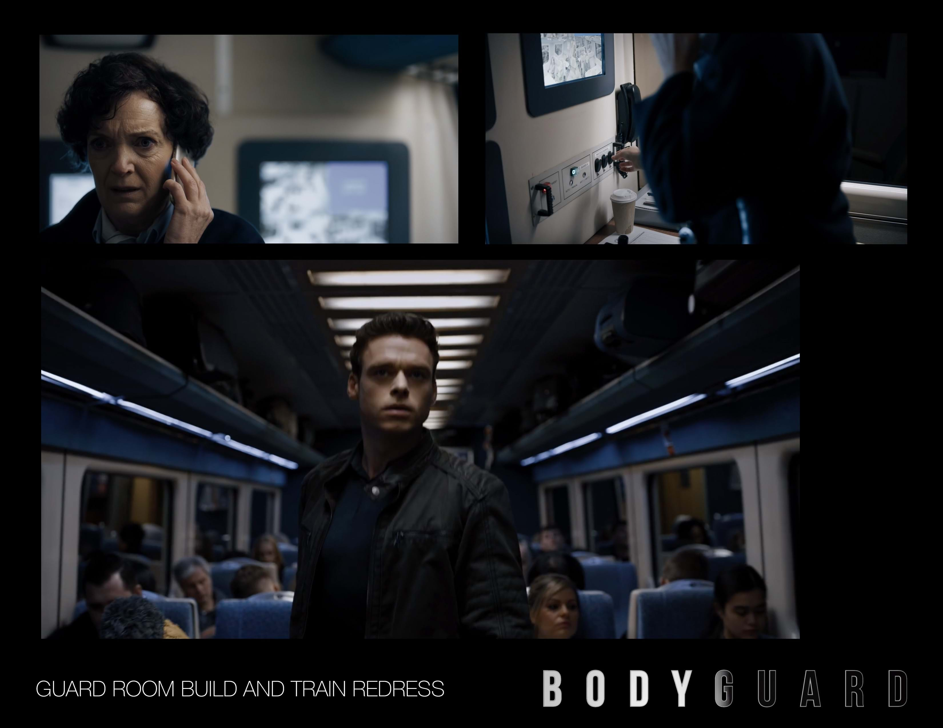 A collection of photos from the TV show Bodyguard