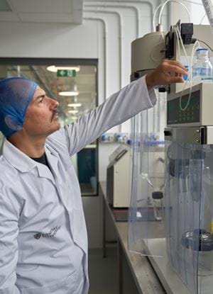 Alberto Fiore at work in Abertay's food labs