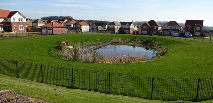 Retention Pond in Ardler, Dundee