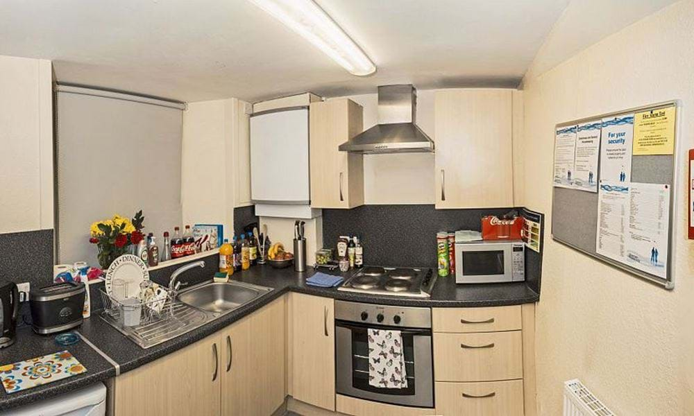 Kitchen with small appliances on worktops