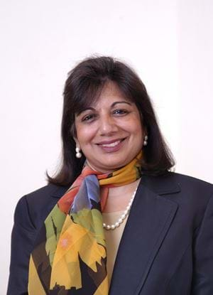 A picture of Kiran Mazumadar-Shaw smiling