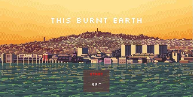 A pixel art image of Dundee from This Burnt Earth