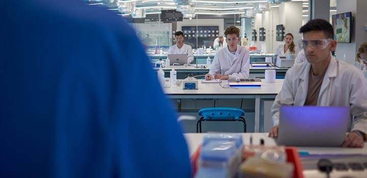 Group of people in a science laboratory