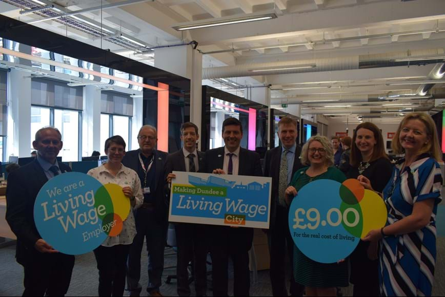 Members of Dundee Living Wage Action Group