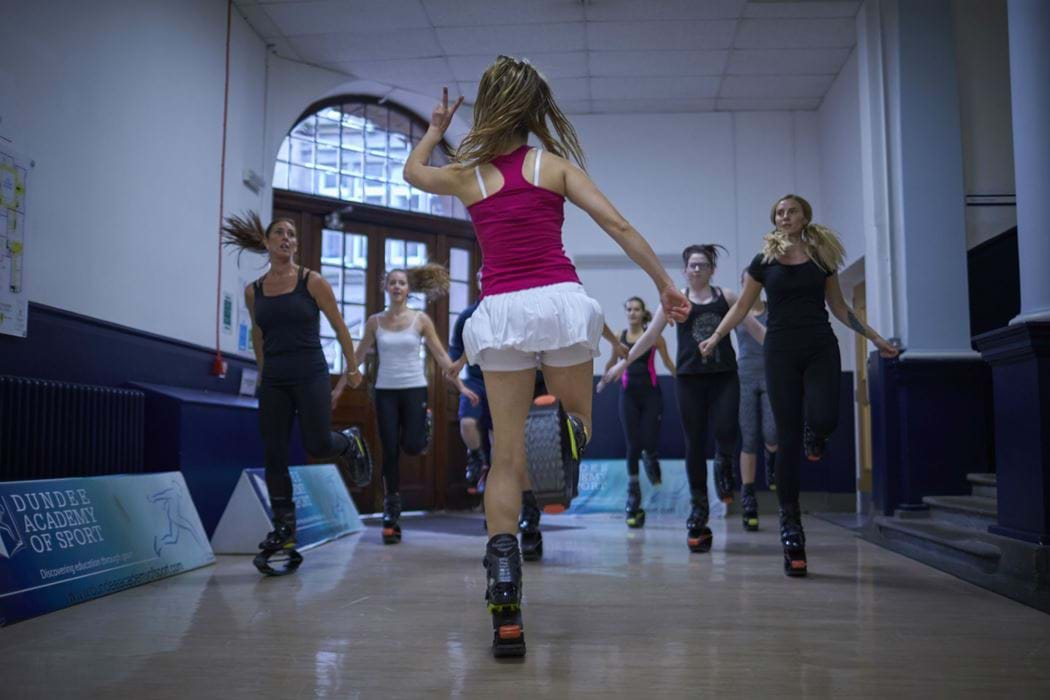 Group of females taking part in a Kangoo class