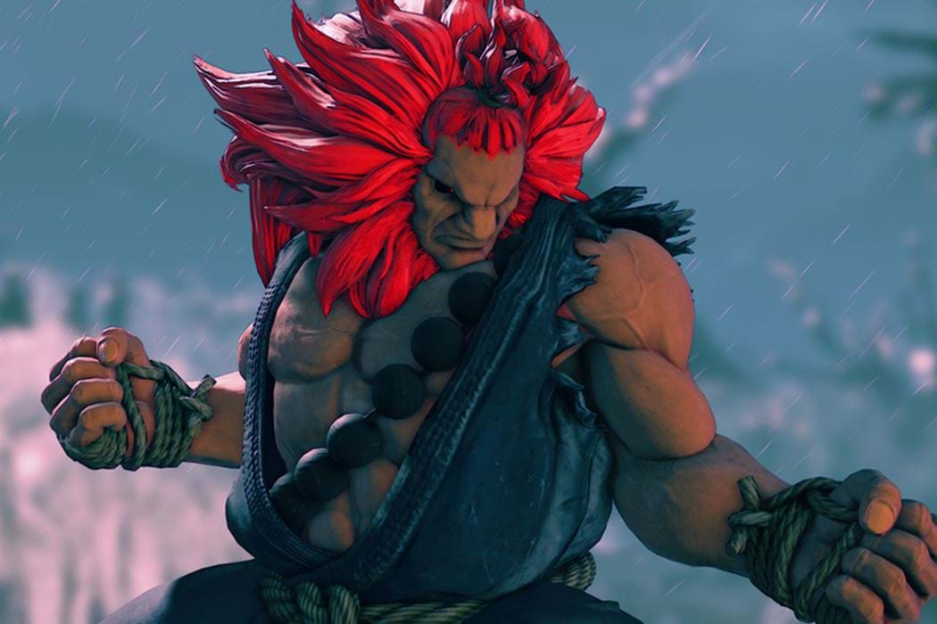 Animated warrior character with red hair