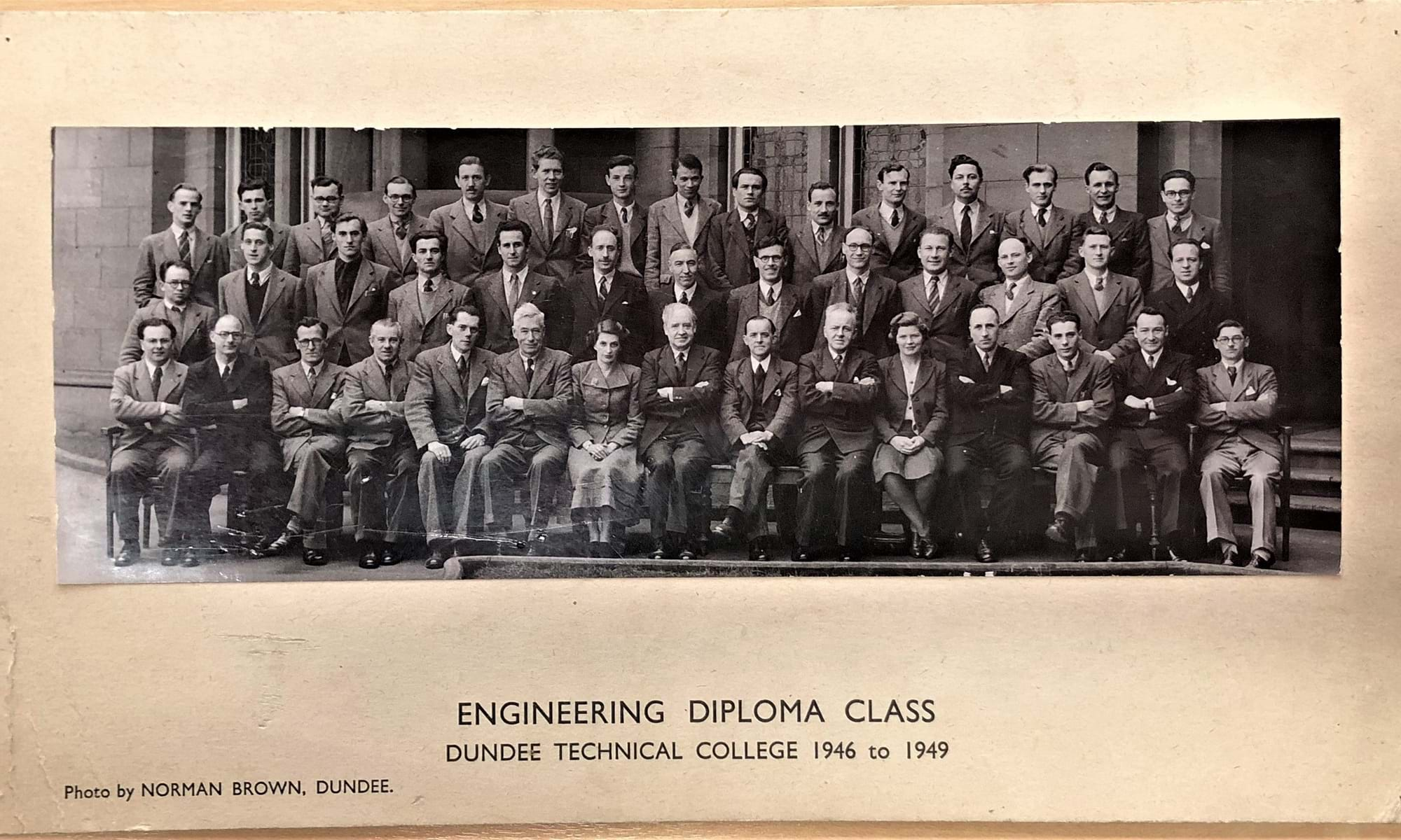 Engineering Diploma Class 1946-49 -  Abertay University Archive