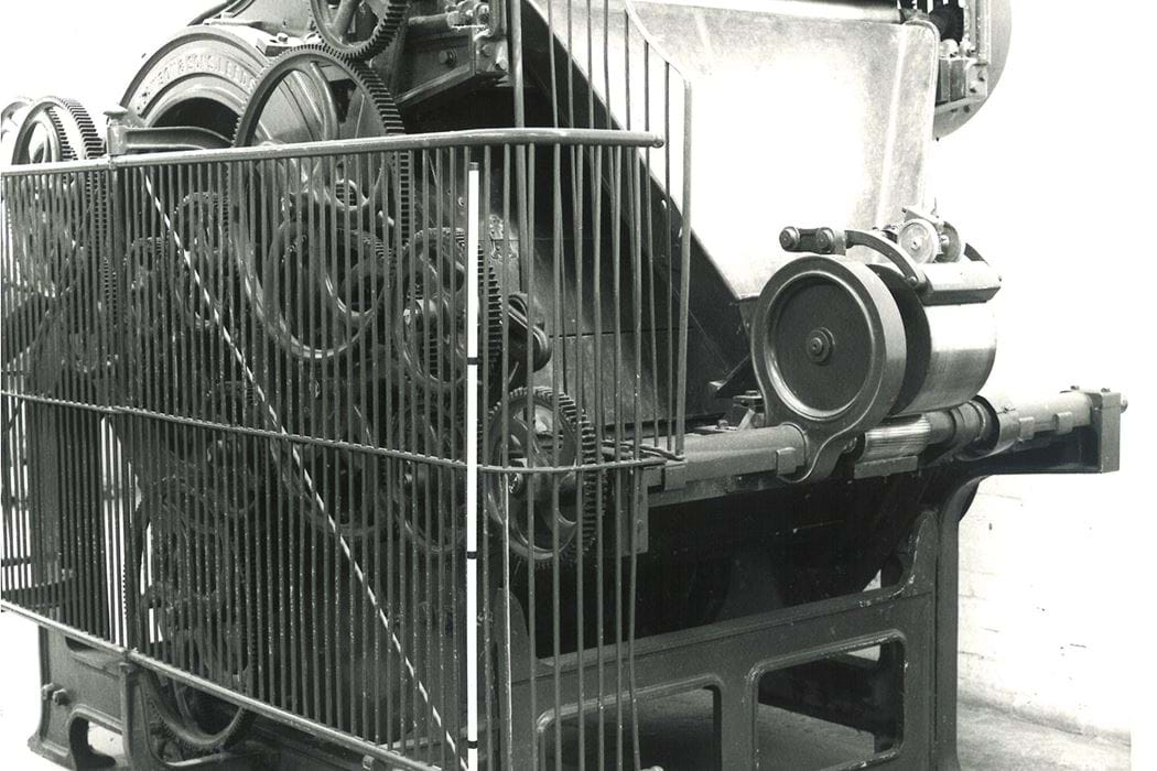 Photographs of Jute Machinery in the Textile Department