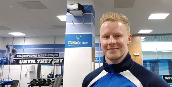 A picture of Dan Jefferson at the Institute of Sport