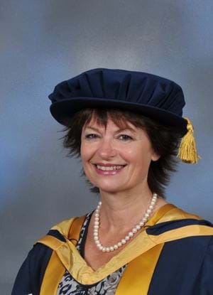 A photo of Dame Anne Glover in her graduation outfit