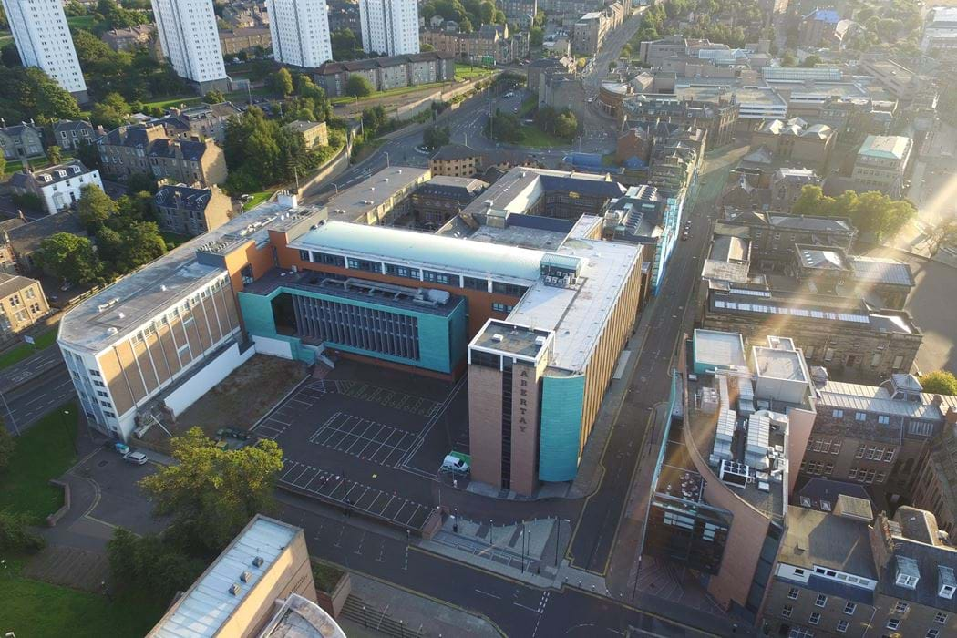 Abertay Campus - image taken from above