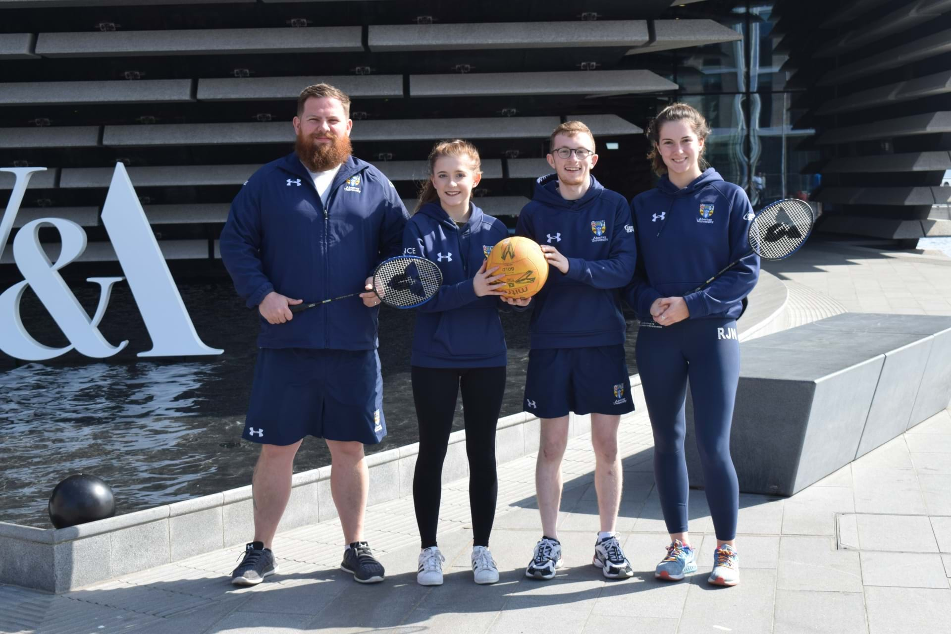 Abertay Sport's Ryan Beattie, Sam Guild, Fraser Allan and Rebecca Norval