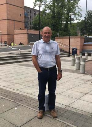 A picture of Maurice Malpas outside Abertay University