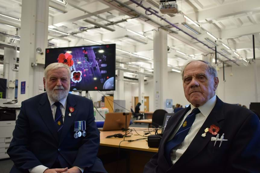 Veterans Alf Gibbons and John Sutherland