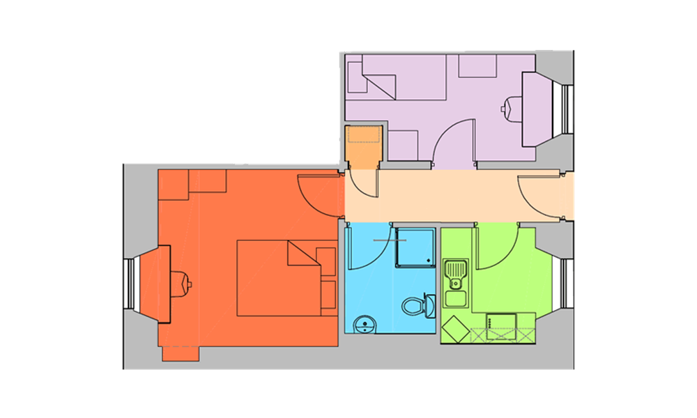 Floor map of economy room