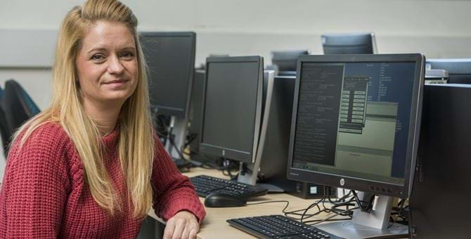 Female Ethical Hacking student Cheryl Torano