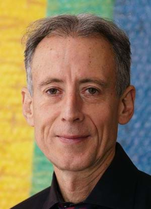 A photo of Peter Tatchell smiling