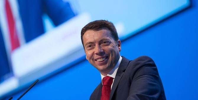 A photo of Iain McNicol smiling