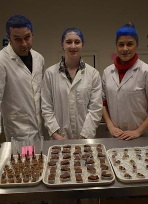 The student team with their puddings