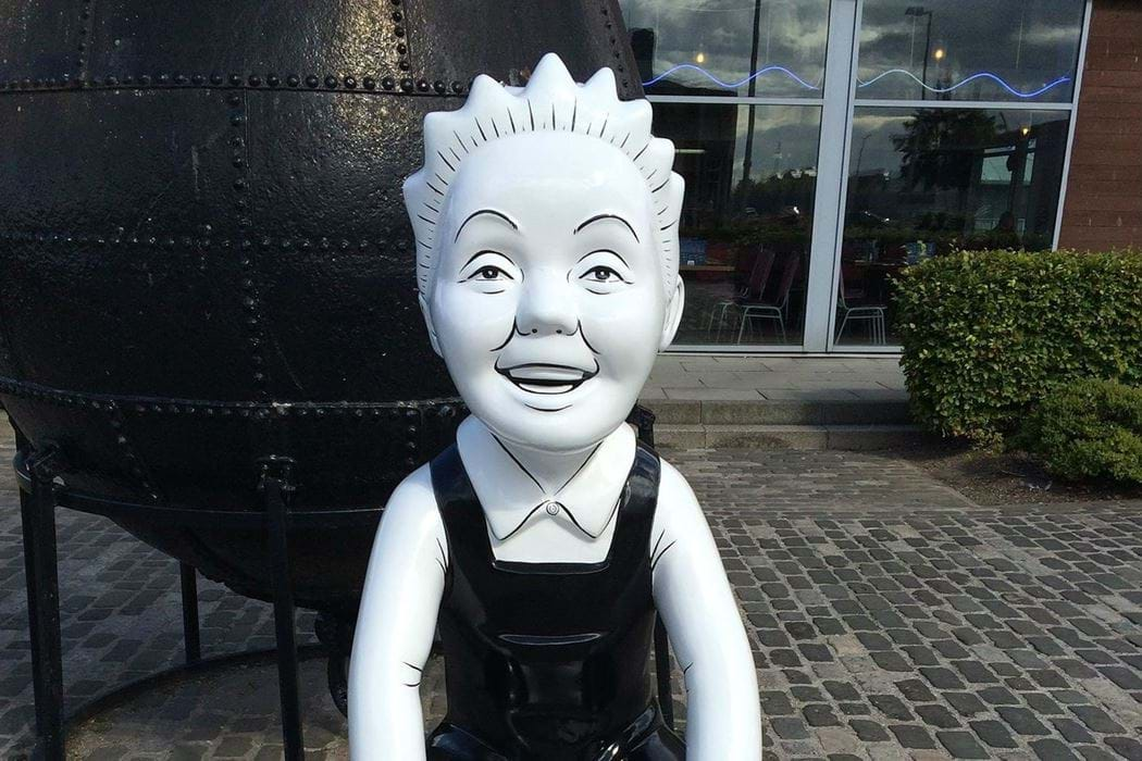 An Oor Wullie statue