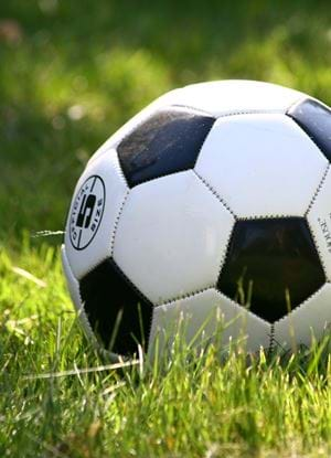 A close-up photo of a football