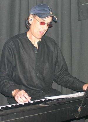 Rob Hubbard playing the electric piano