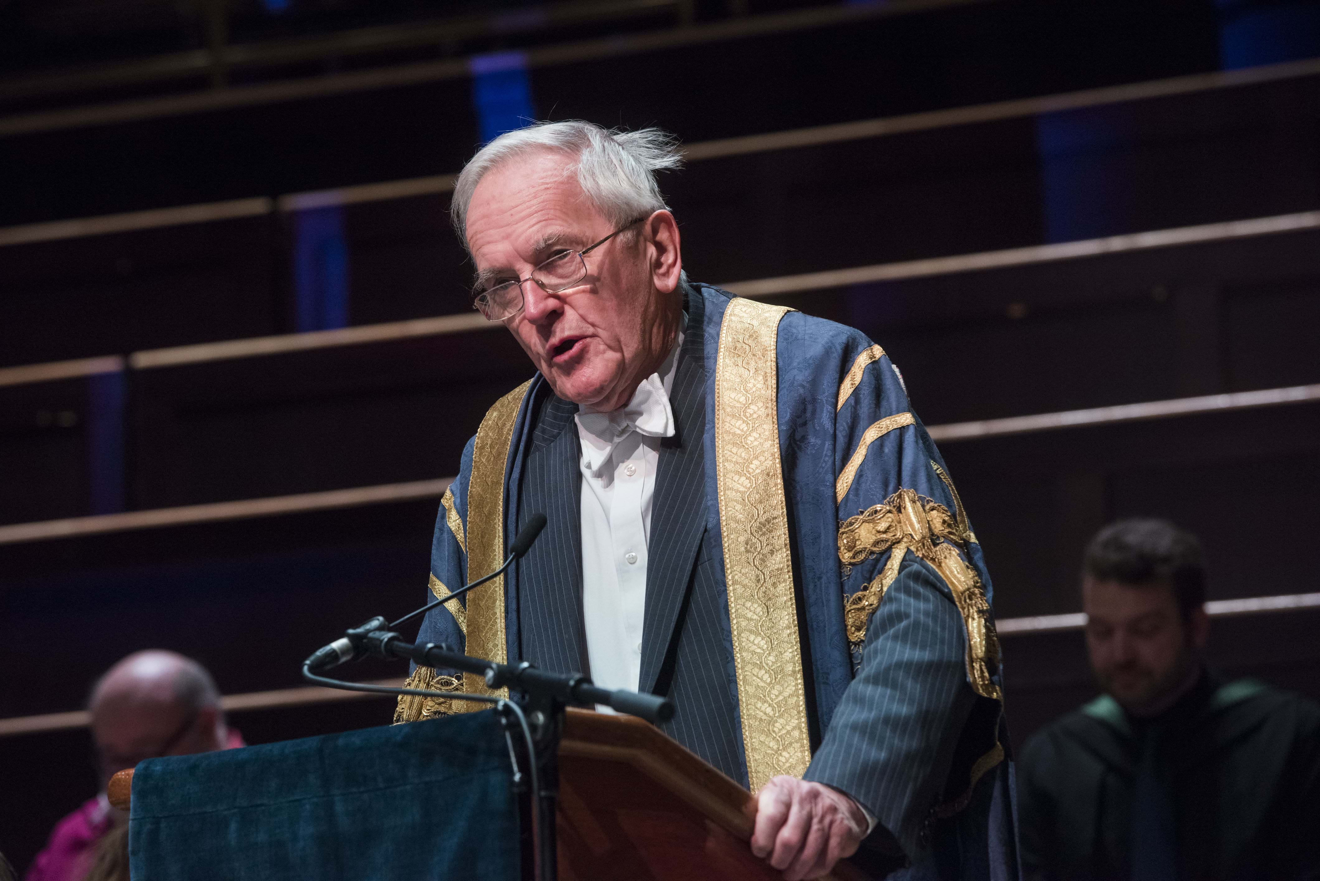 Lord Cullen speaking at an Abertay graduation ceremony