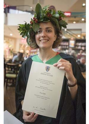 Eva Gatti an Abertay University Graduate in Food and Consumer Science