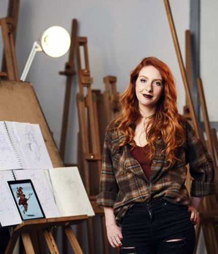 Sophie North at the Abertay Art Studio