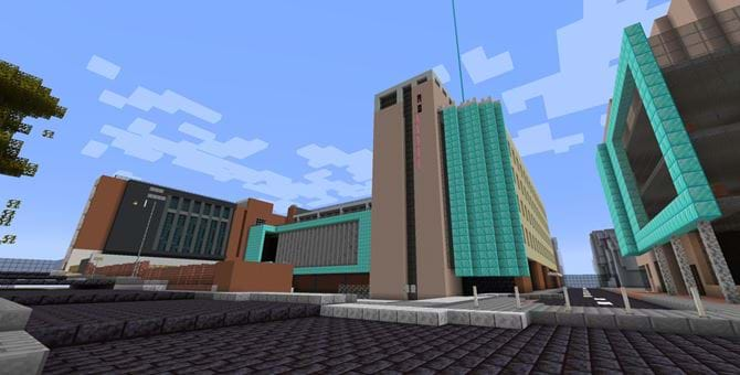 Abertay's Kydd building recreated in Minecraft