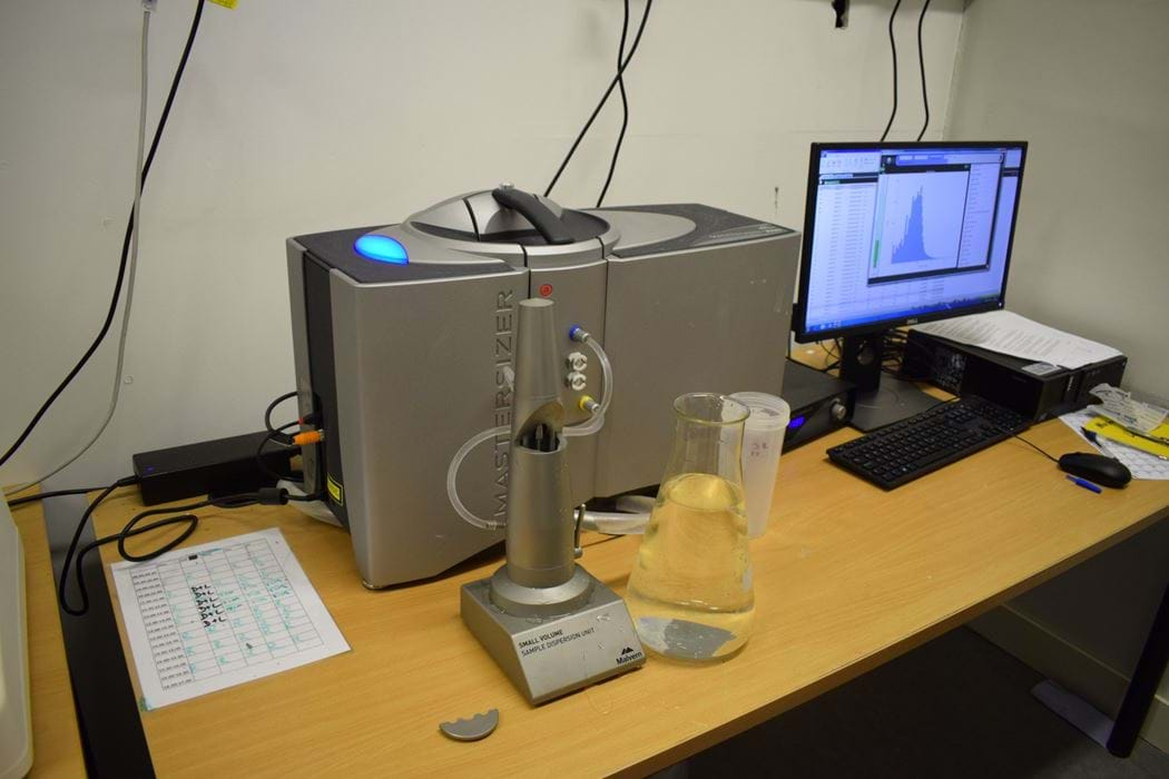 Particle size analyser machine