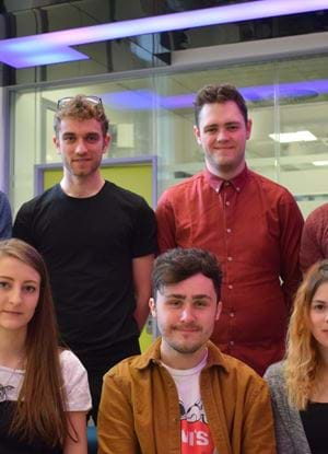 Student games development team, Blacklight Games, in the Centre for Excellence