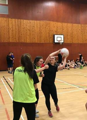 Netball being played as part of the Sport-Athlon event