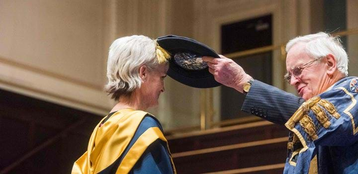 Judy Murray receiving Honorary Degree from Abertay University